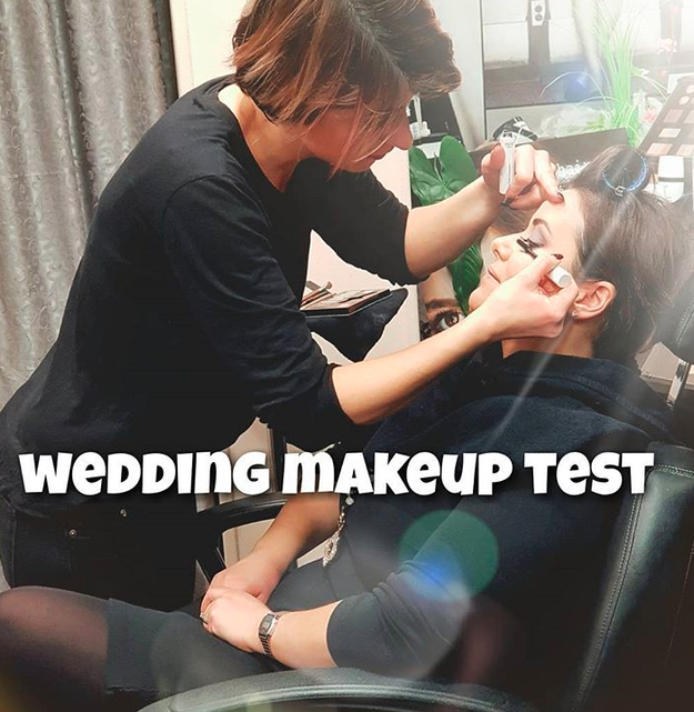 Splurging on a makeup artist is worth it, especially since there will be tons of photos on your special day. But be sure to settle on a look you love first.