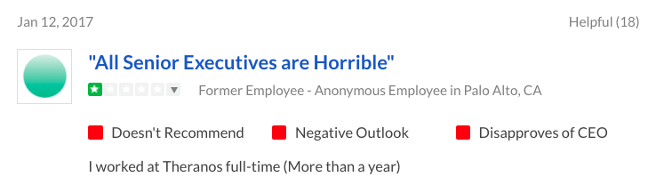 job reviews from employees