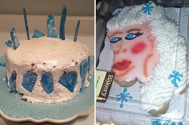 Strange 15 Homemade Frozen Themed Birthday Cakes That Tried They Really Funny Birthday Cards Online Inifofree Goldxyz