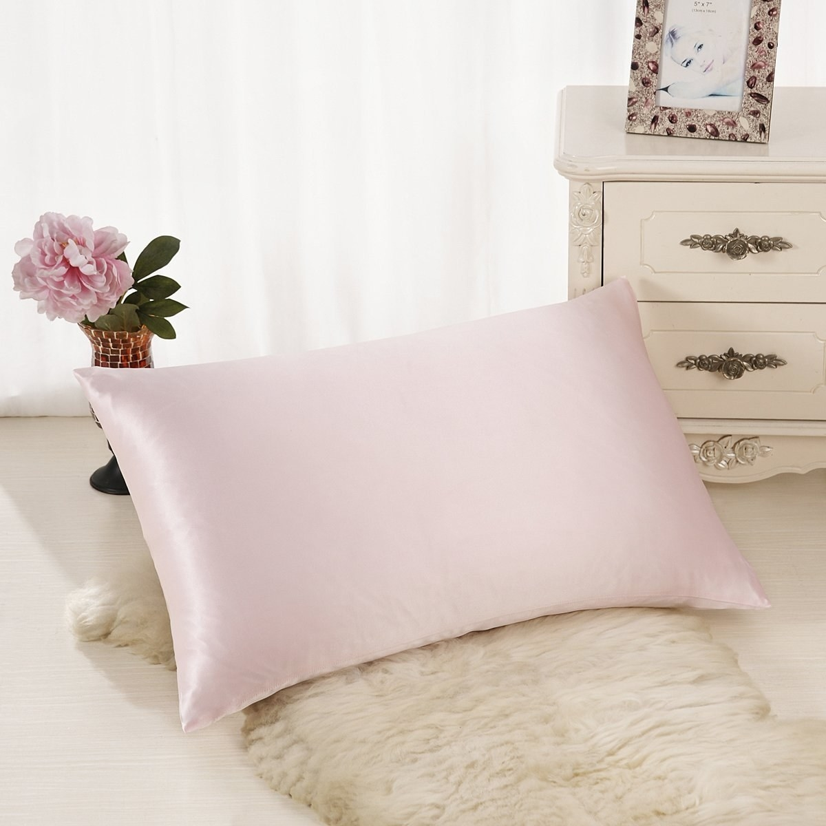 the pillowcase in pink