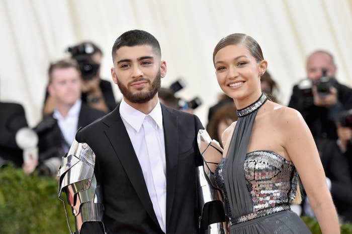 Zayn Malik and Gigi Hadid attend the Costume Institute Gala at the Metropolitan Museum of Art on May 2, 2016, in New York City.