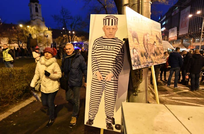 Mass protests against Robert Fico took place in the Slovakian capital last week.