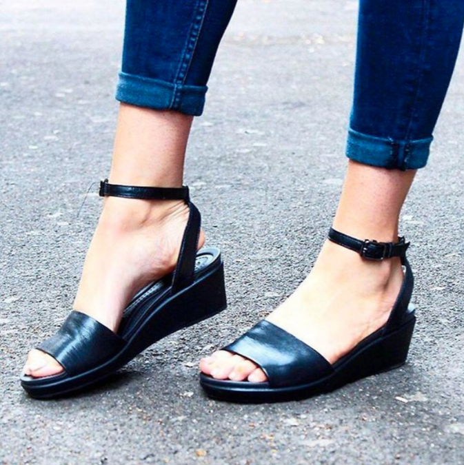 """I work in retail and I'm on my feet all day. Last year I discovered the """"Leigh-Ann"""" ankle strap sandal from Crocs and it was like hitting the comfort but trendy jackpot. The shoe is contoured to give great support and has a shock absorbent rubber sole. —jennag4917ec17eGet them from Crocs for $64.99 (two colors available), or from Amazon for $29.49+ (four colors available in select sizes at varying prices)."""