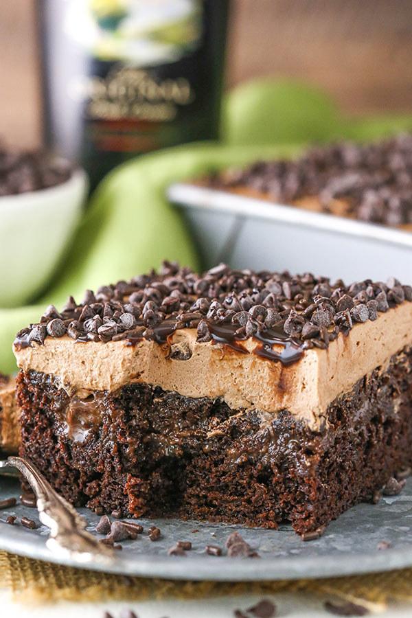 Bailey's Chocolate Poke Cake
