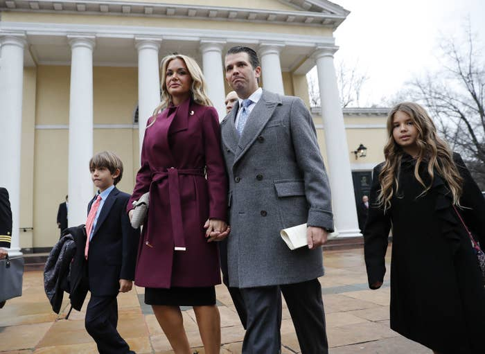 Donald Trump Jr., his wife Vanessa Trump, and two of their children.