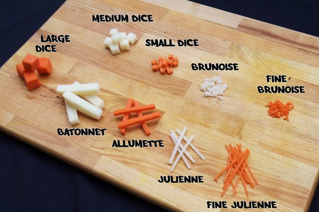 When prepping your ingredients for a recipe, make sure you're actually following the chopping guidelines. If it calls for a one-inch dice, a julienne, or a mince, make sure you know what those words mean.