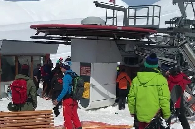 An Out-Of-Control Ski Lift Sent People Flying Into The Air ...
