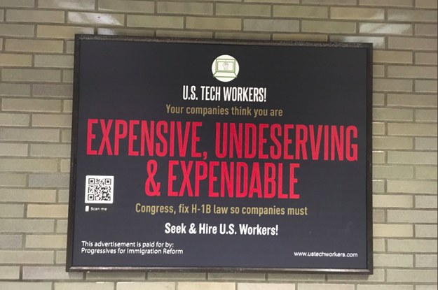Anti-Immigrant Ads Aimed At Tech Workers Are Running On Public Transit