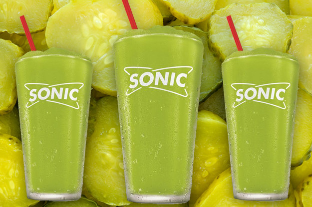 "Folks, pickle juice slushies (technically, ""slushes"") are coming to a Sonic Drive-In near you this summer and I honestly don't know if this is awesome or questionable."