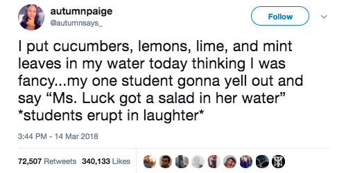 This teacher, who became the joke of her class: