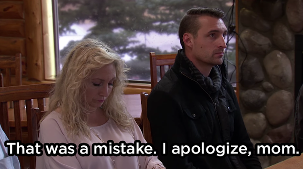 The owner then apologized to his mom: