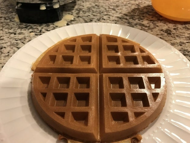 This waffle is so perfect, it almost looks fake. But it's real.