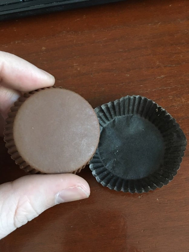 When do Reese's EVER come out of their wrappers so perfectly? Sorcery!!!