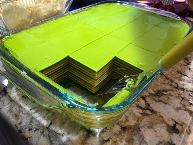 This Jello has 21 layers of meticulous perfection.