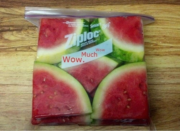 And finally, whoever bagged this watermelon deserves a Nobel Peace Prize.