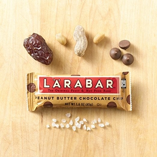 "I lived off these in grad school. This flavor is the best.Promising review: ""These make an incredible on-the-go breakfast or snack. I tend to grab one and eat it on my way to work, and I must say that of all the Larabars I've tried through the years, these are by FAR my favorite. The banana bread is my second favorite, but these bars don't even taste healthy. They're THAT good. When I eat a Larabar, I know I'm eating a healthier snack bar, but with these I honestly feel like I'm cheating my healthy regimen but these are good and good for you (as far as snacking goes). They leave me satisfied like a big bowl of oatmeal might, while being a compact and tasty snack.The best part about Larabars is that you know EXACTLY what you are putting into your body – in this case it is dates, peanuts, chocolate chips, and salt. The chocolate chips themselves only consist of chocolate, sugar, cocoa butter and vanilla. If you're going to snack, snack smart!"" –Alex SGet a 16-pack from Amazon for $15.17."