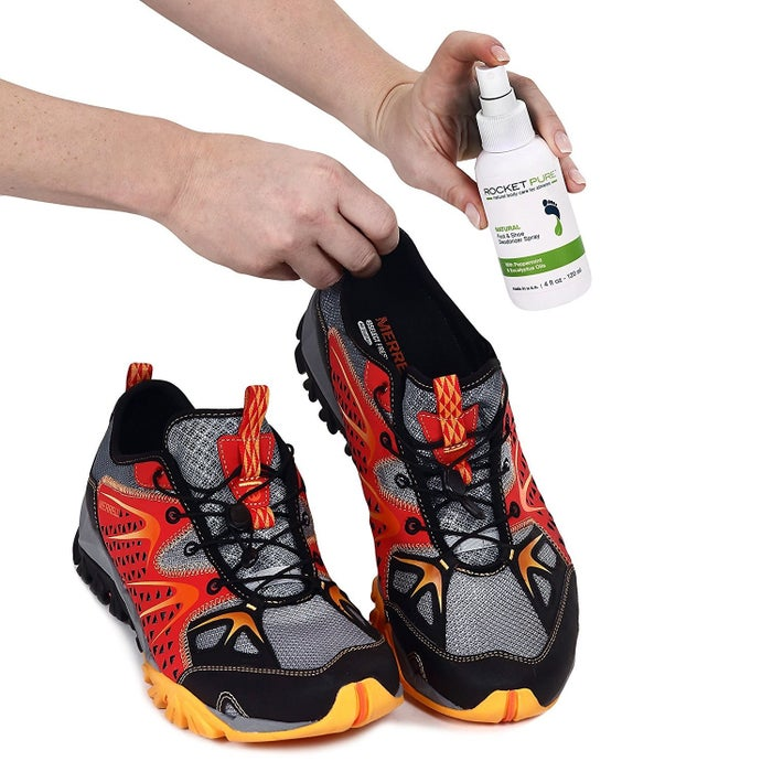 "Promising review: ""For some context, I am a college student. My dorm room is small and would quickly smell with a bad odor due to my shoes being taken off and left there. I use this product by spraying the inside of my shoes every time I take them off. This product does a good job at not only removing the bad smell of my shoes, but replacing it with a pleasing mint! At times, I also spray this directly onto my feet before putting my socks on. I will continue to buy this product for my shoe-smell needs."" —Chicago, ILGet it from Amazon for $12.95 (available in three aromas)."