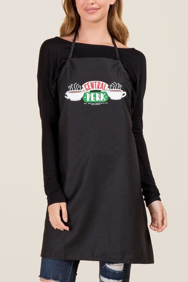 A Central Perk apron to wear if you happen to be the Monica of the group.