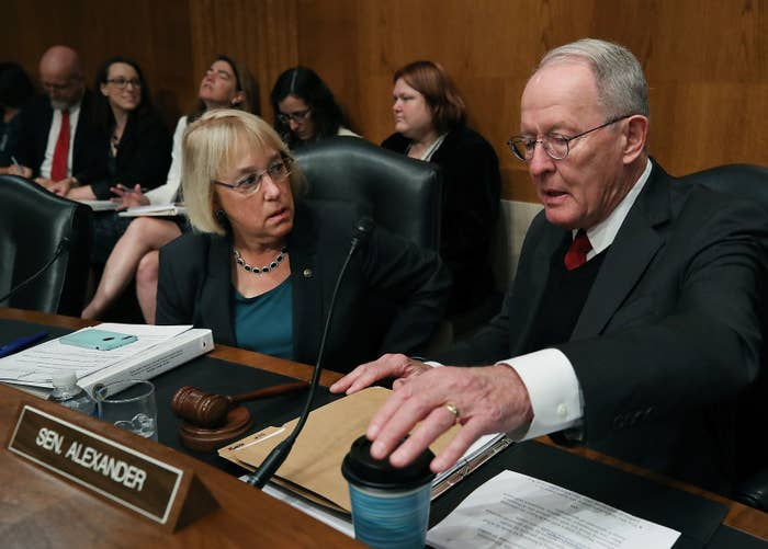 Republican Sen. Lamar Alexander, who chairs the Senate Health Committee, and Democratic Sen. Patty Murray, the ranking member.