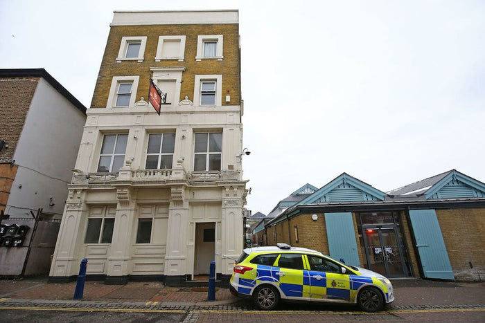 Police outside Blake's nightclub in Gravesend, Kent.