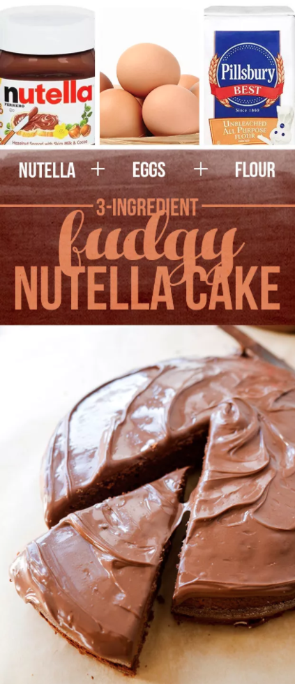 Three-Ingredient Nutella Cake