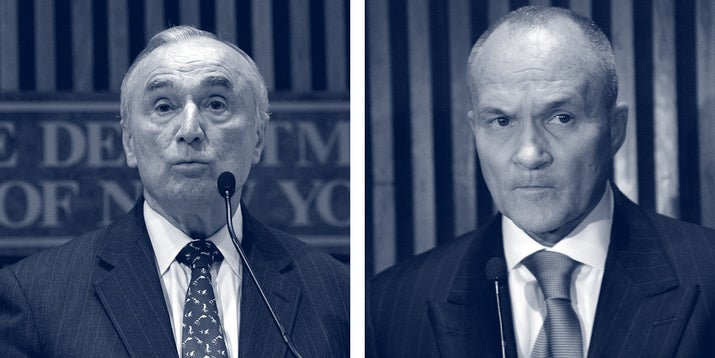 Bill Bratton, left, and Ray Kelly, the NYPD commissioners during the period covered by the Probation Files.