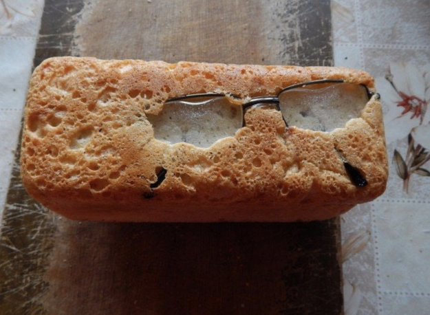 This person really just gave a loaf of bread the gift of sight: