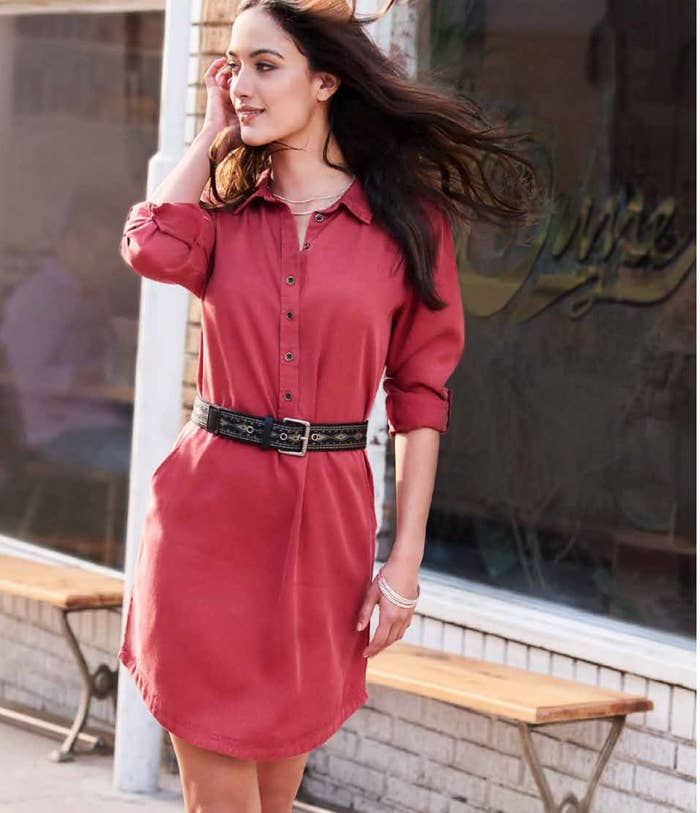 35730f823c89ec Along with a cute-as-a-button (or multiple buttons!) shirtdress that looks  good belted and hanging loose — and it s made out of soft and silky lyocell  ...