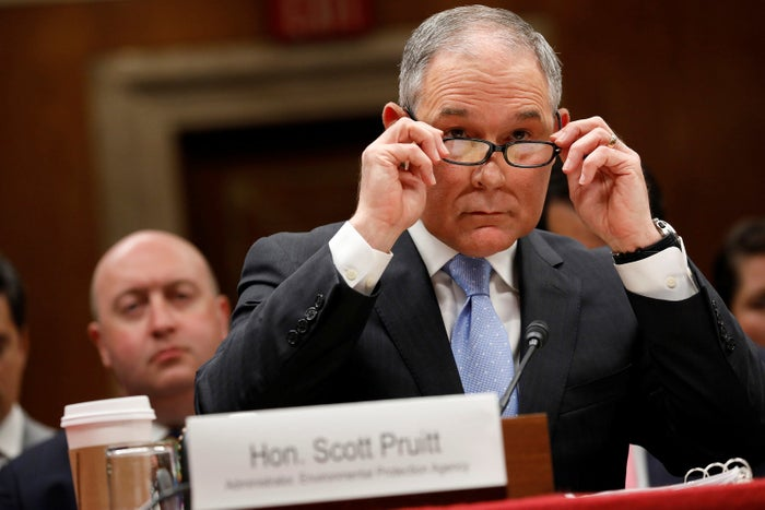 EPA head Scott Pruitt at a congressional hearing.