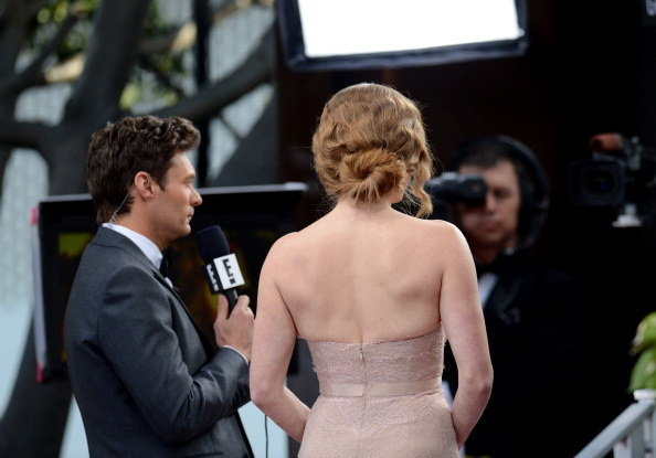 Ryan Seacrest and actor Amy Adams at the Golden Globes in 2013.