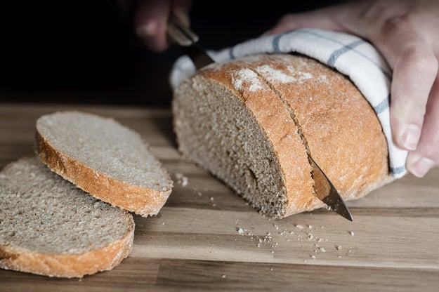 You cut into your breads and cakes before they're completely cool.