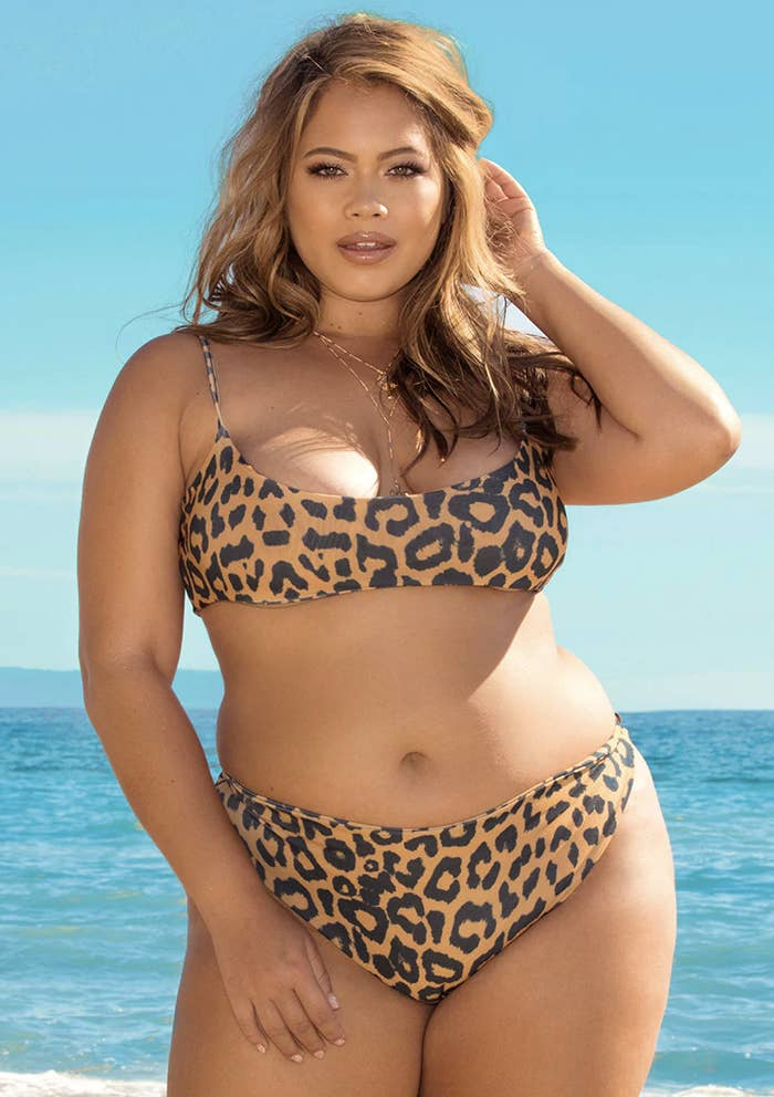 390e73b4051 A leopard print bikini to channel your inner Bettie Page.
