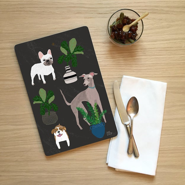 An aesthetically pleasing chopping board that might as well be a piece of wall art.