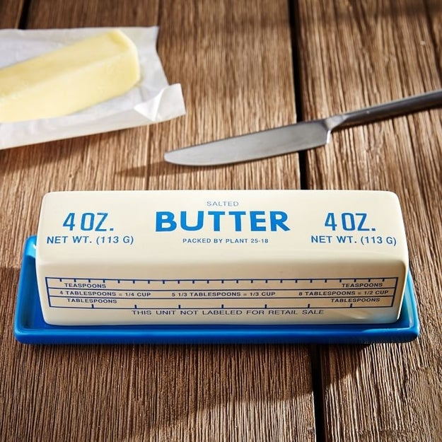 A retro butter dish to delight and confuse anyone who opens your fridge.