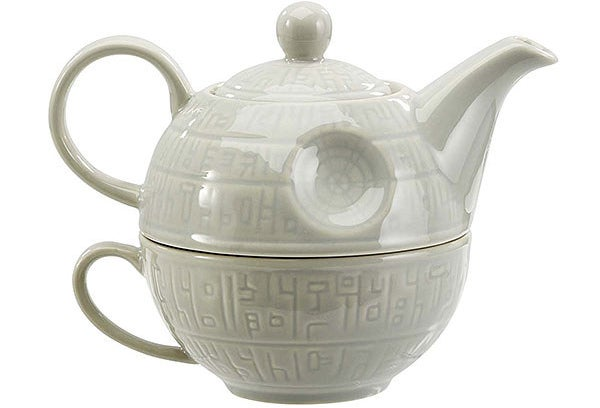 A Death Star teapot and mug set for one because the Empire doesn't like to share and neither do you.