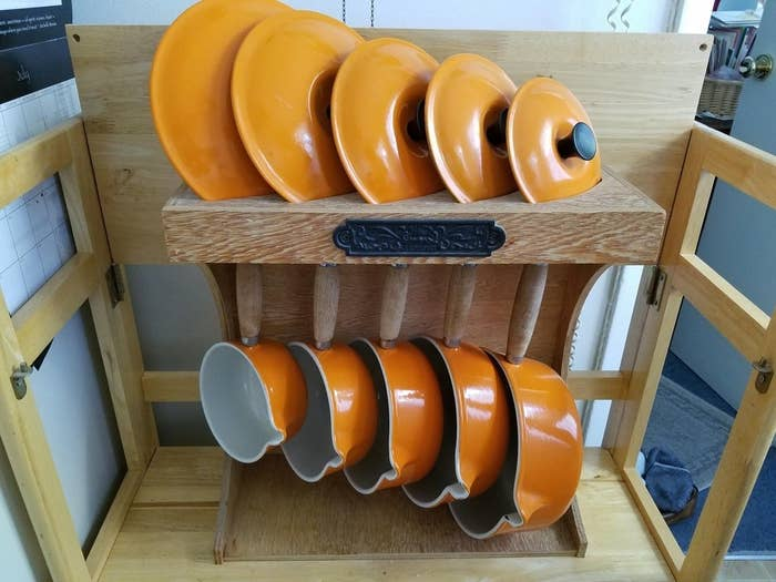 """""""My in-laws were brilliant: Le Creuset, purchased 1977."""" —cuthman99Get your own 5-piece set (not for '70s prices, sadly) on Amazon for $524.95."""