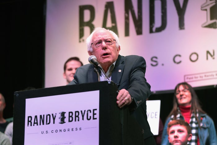 Bernie Sanders at a rally for Randy Bryce last month. Sanders alumni at the firm Revolution Messaging and Bryce staffers have each formed unions.