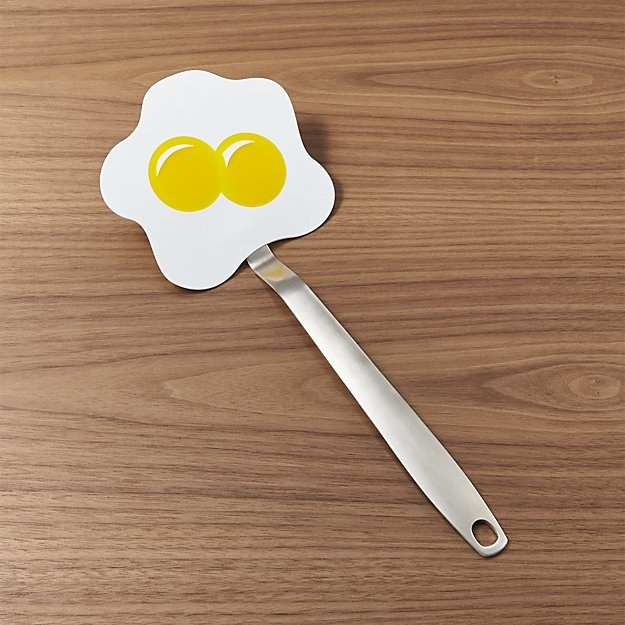 A sunny side up egg turner 100% worth shelling out for, no ~yolk~.