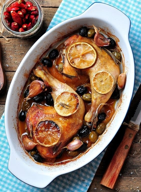 Chicken With Prunes, Apricots, and Olives