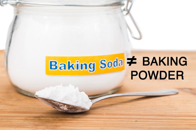 You use baking powder instead of baking soda — or you don't check to see if they're expired.