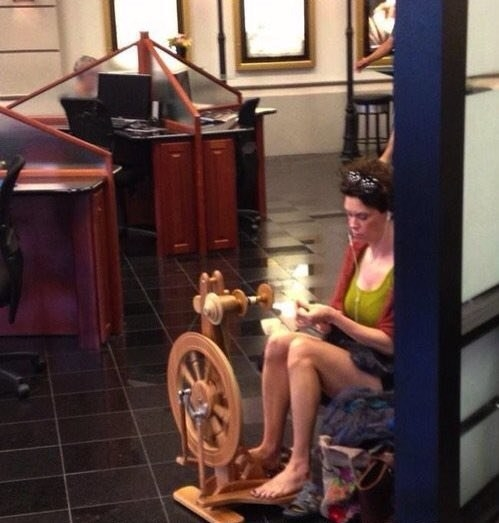 How about this yarn spinner at a car dealership: