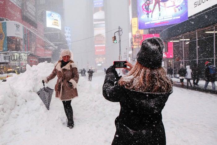 Times Square, Jan. 23, 2016.