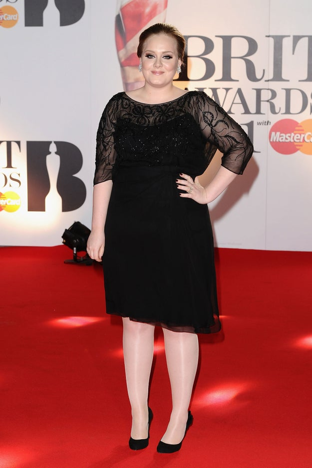 "When Adele performed at the Brit Awards in 2011, she had to stand on the stage in heels for two minutes during the ad break before the performance. This made her nervous because ""standing for more than a minute in high heels makes me wobble."""