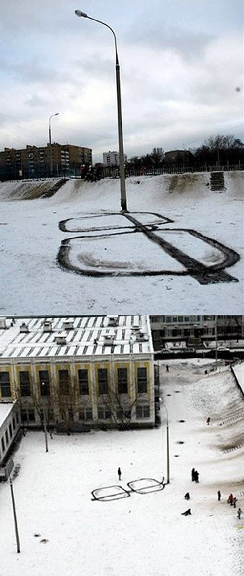 Lol this snow creation is kinda genius, not gonna lie: