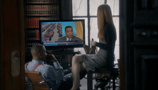 Perd Hapley may be Pawnee's greatest news anchor, but he's also a reporter in the Scandal universe...