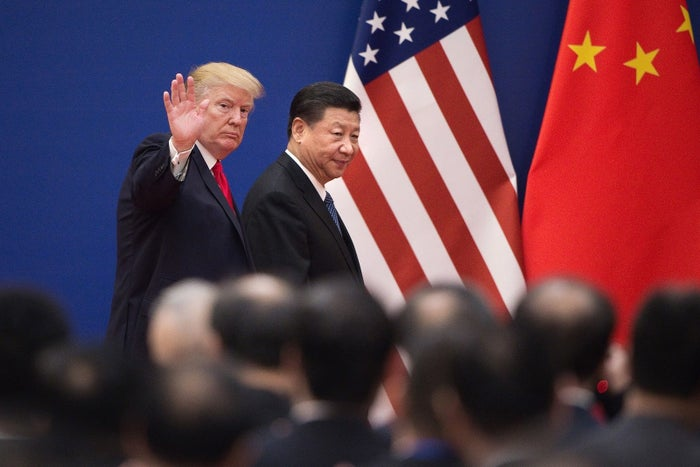 US President Donald Trump and China's President Xi in Beijing on Nov. 9, 2017