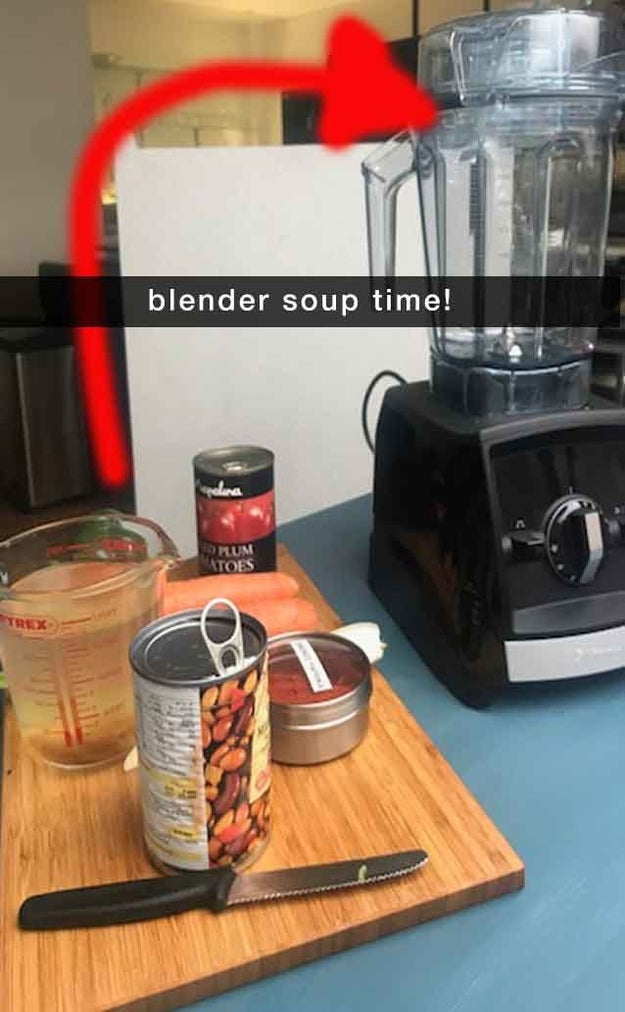 """The most important thing is to add items in the right order – so I began by putting carrots, tomatoes, celery and stock in the blender, then turning it onto the """"soup"""" setting for five minutes."""