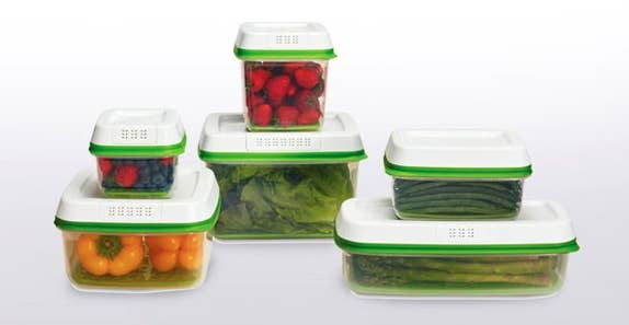 Vegetables Storage Containers These miracle plastic containers keep berries day one fresh for and while i tested just two the produce savers come in six different shapes and sizes to fit whatever fruit and veg you buy most often workwithnaturefo