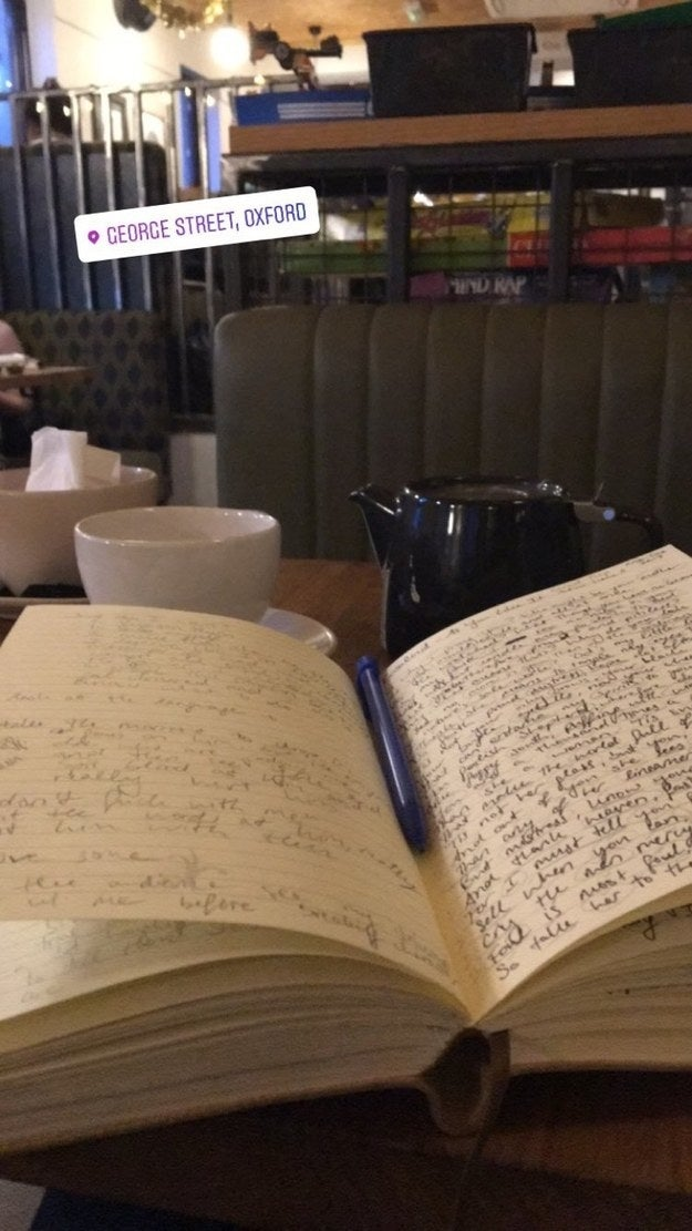 The writer in a café is a classic stereotype, but for good reason. Several studies have shown that a moderate level of noise (70–80 decibels, to be specific) is actually really helpful for getting in the creative zone.If you can't get to a café, try listening to white noise or music without lyrics.