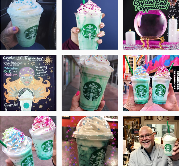 Browsing through Instagram, most of the Crystal Ball Frapps looked exactly like the pictures Starbucks was using...